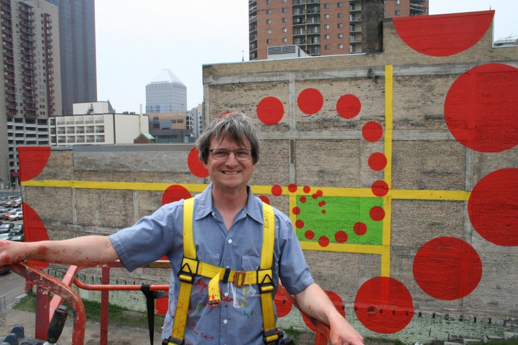 Mural artist Ed Charbonneau '06 MFA