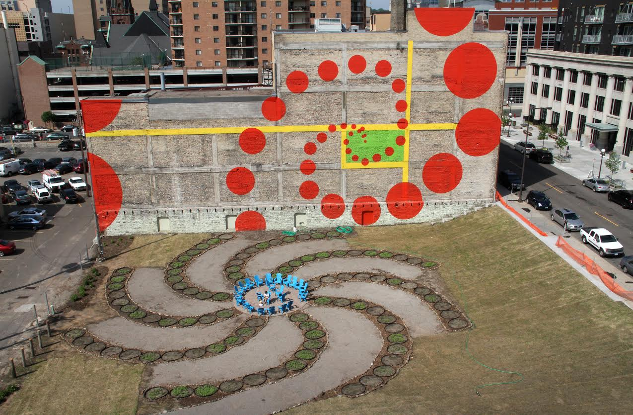 The Urban Flower Field viewed from above