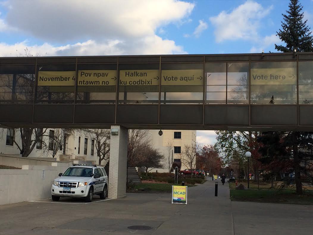 Exterior voting signage