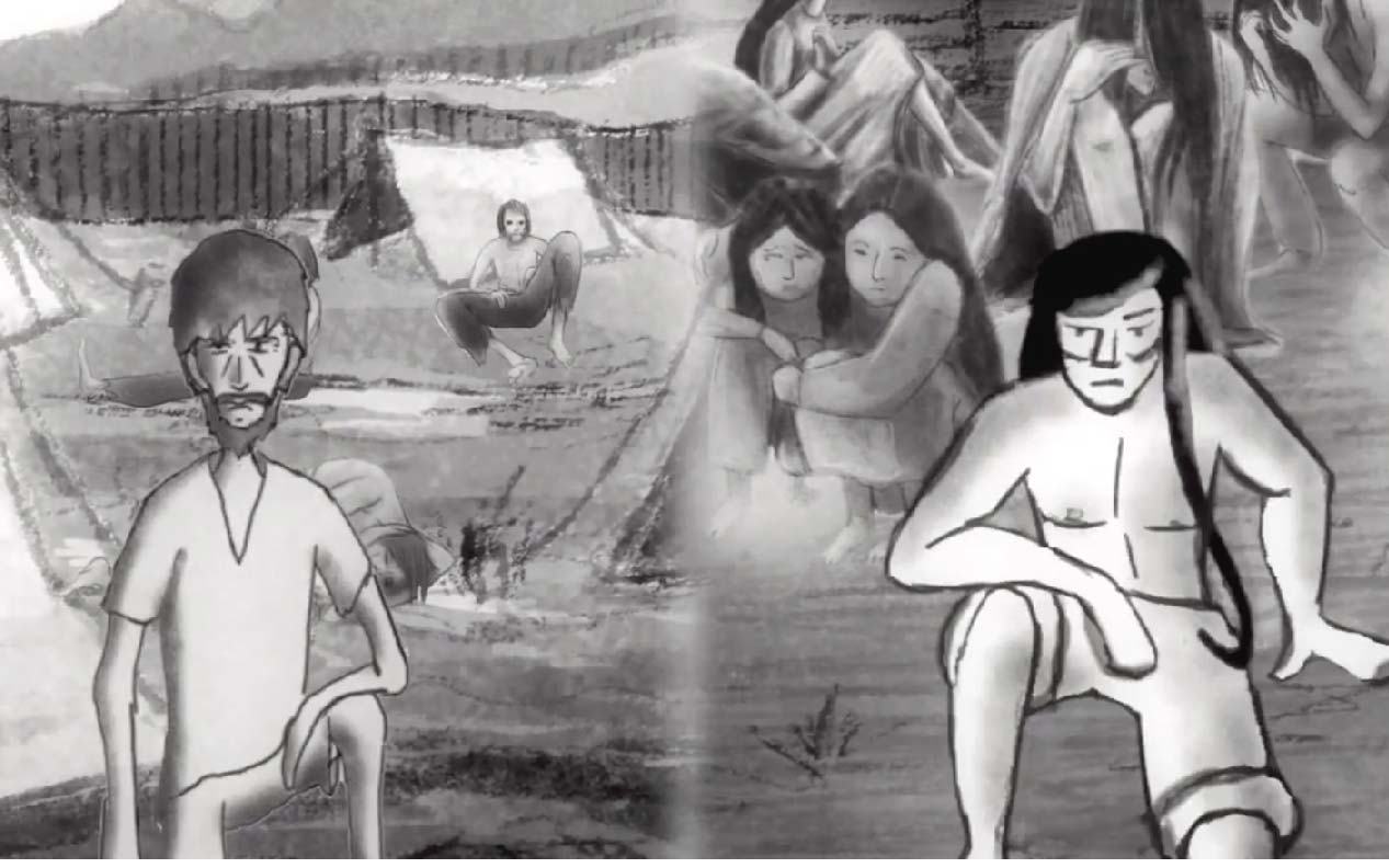 Animation still from the project