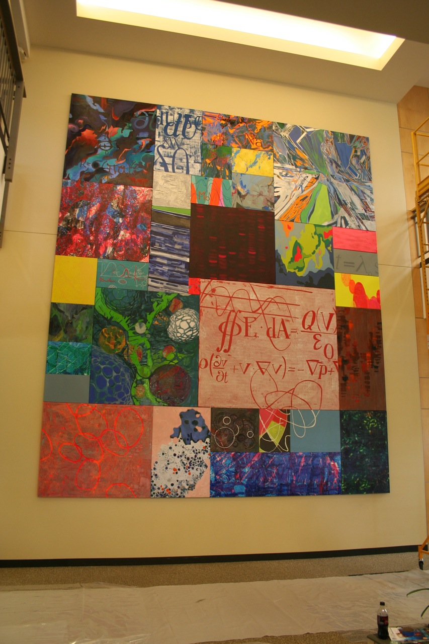 The completed mural