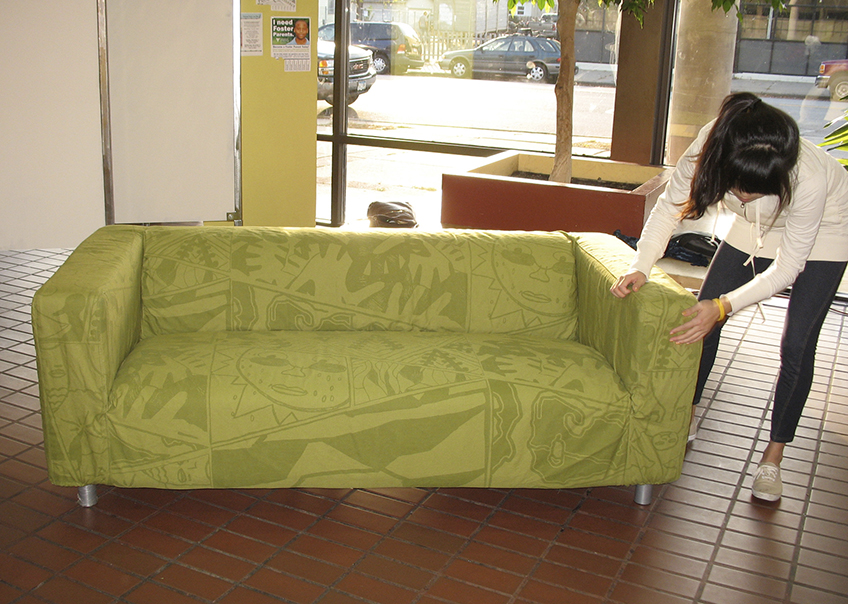 Custom printed couch cover