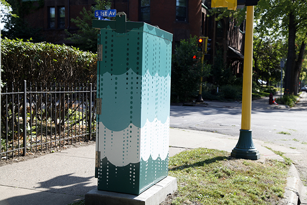 Completed utility box