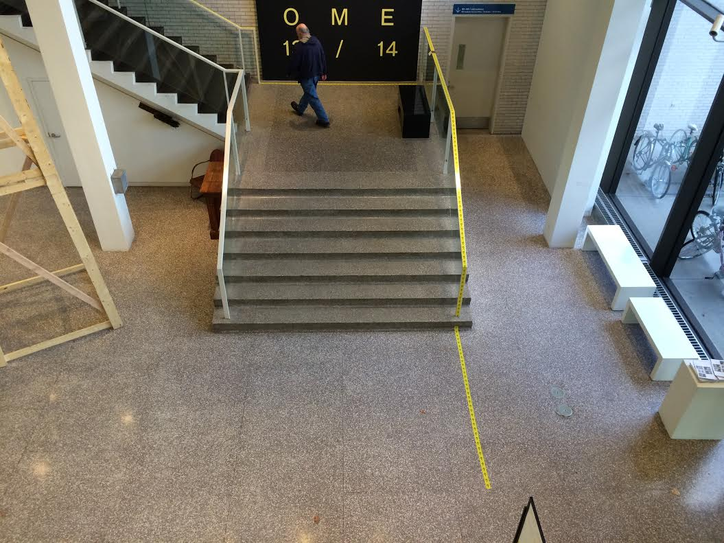 Directional tape in main gallery
