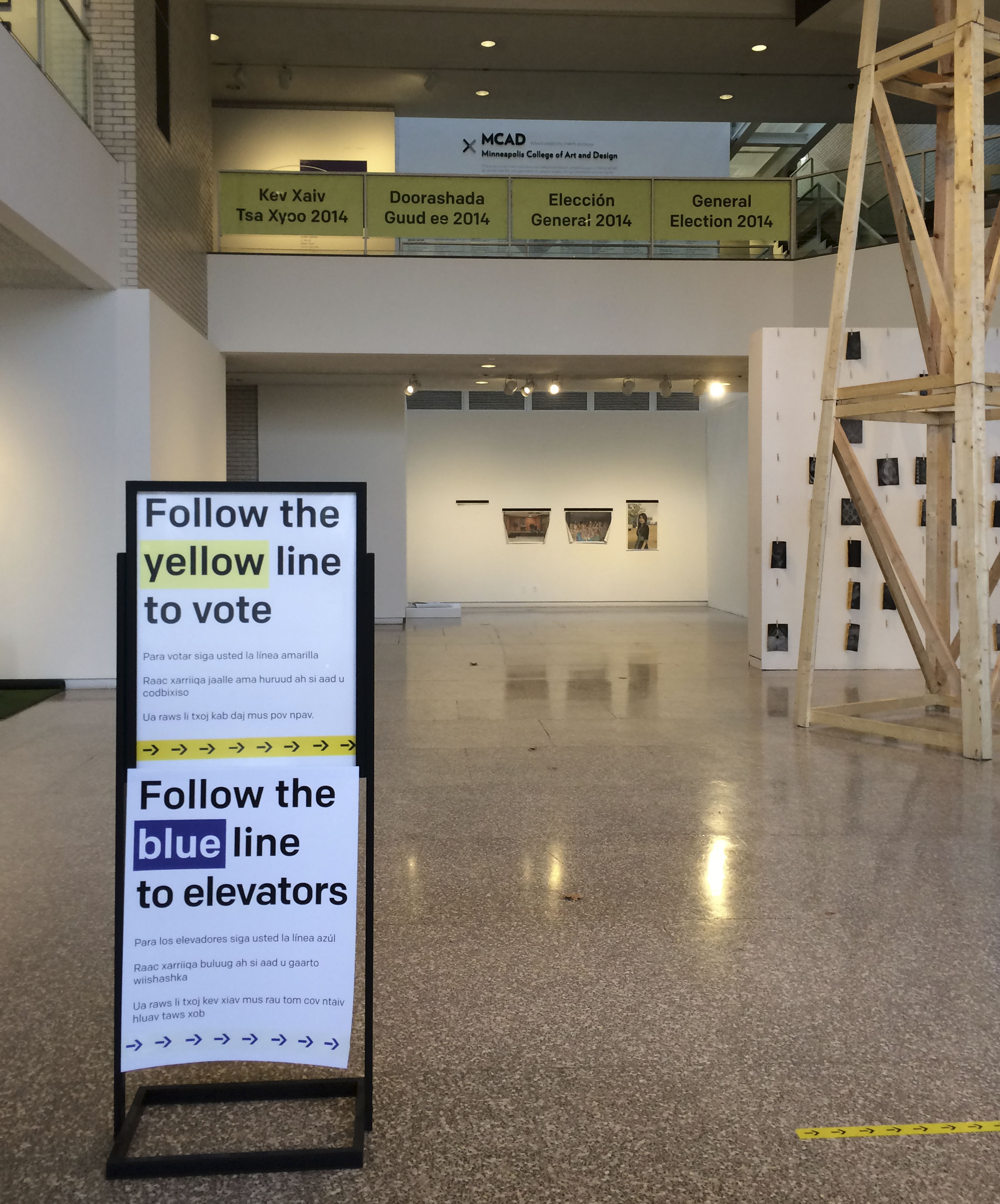 Main gallery elections signage